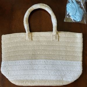 ALTRU straw beach bag